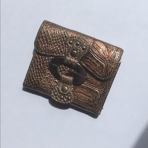 Guess Mini Snakeskin Wallet - Brown